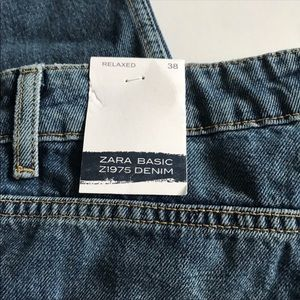 Zara Jeans - NWT Zara Embroidered straight relaxed fit jeans